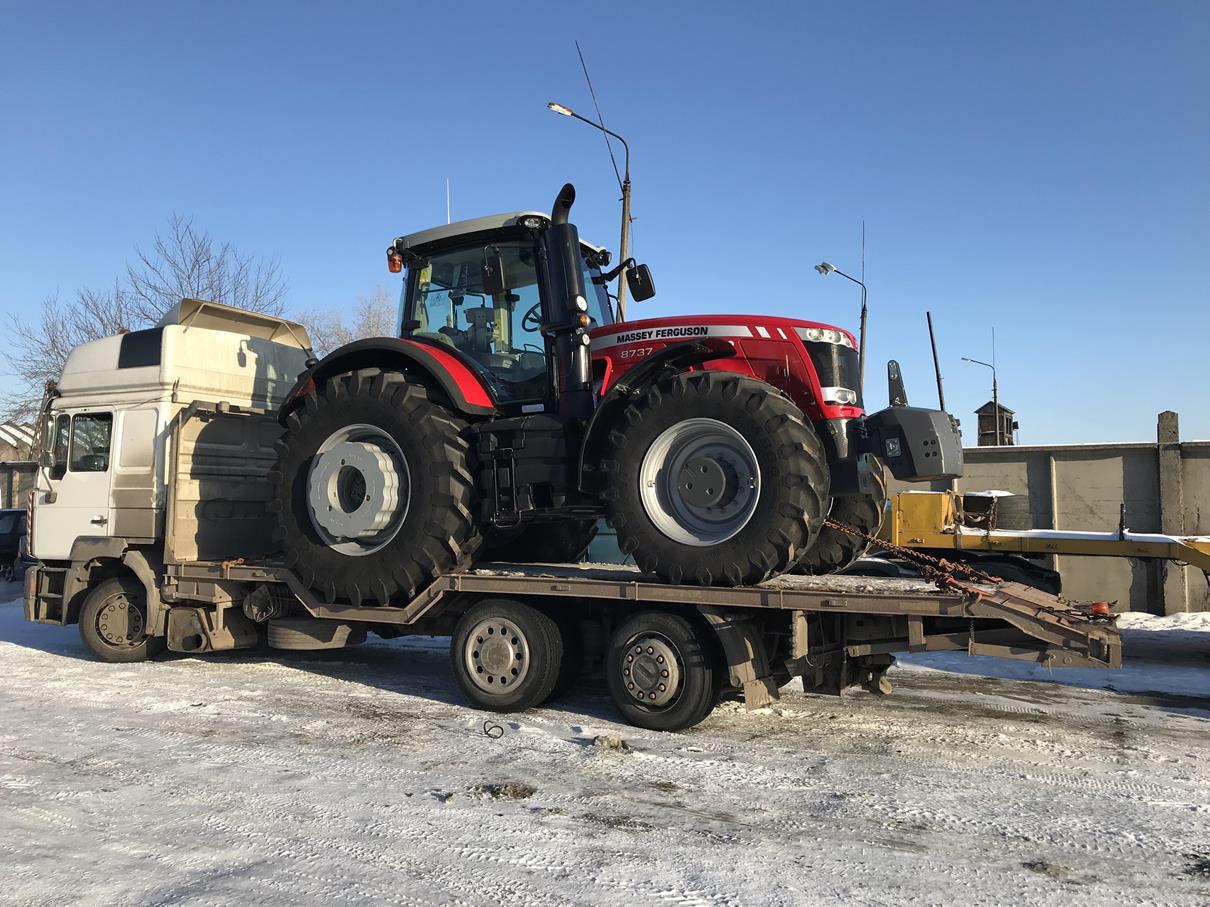 Перевозка трактора по Украине